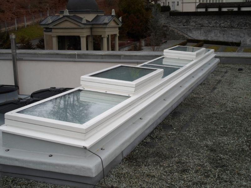 Oberlichter Flachdach glasoberlichter isba ag tageslichtsysteme aus der schweiz